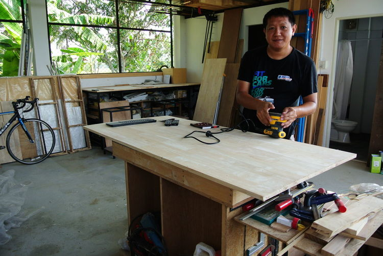 The Making of My Workbench Adult Adults Only Carpentry Day Indoors  Lifestyles One Man Only One Person Only Men People Real People Skill  Toolbox Workshop
