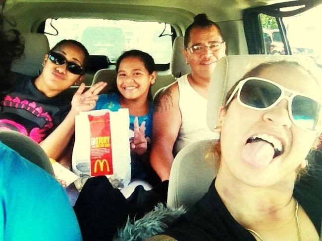 With the fam bam