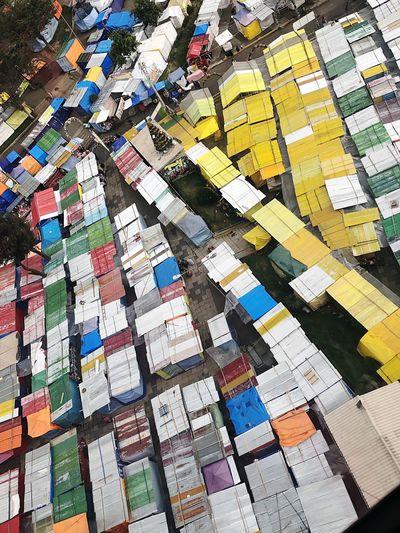 Full frame shot of multi colored slums