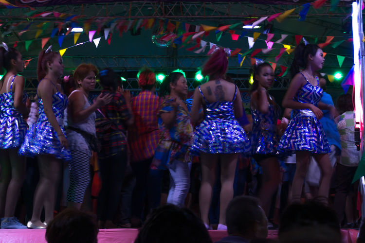 Thai Dance Popular Music Concert Nakhon Pathom Thailand Enjoyment Thailand Music Singer  Crowd Dancing Togetherness Standing Dance Night Large Group Of People Dancers Outdoors Dance Show Singer  Real People Dance Floor Watching Happiness Music Nightlife People