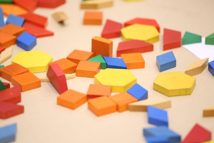 Close-Up Of Colorful Toy Blocks