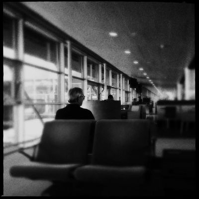 Blackandwhite At The Terminal