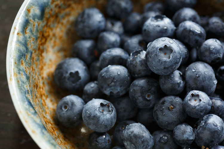 blueberries in