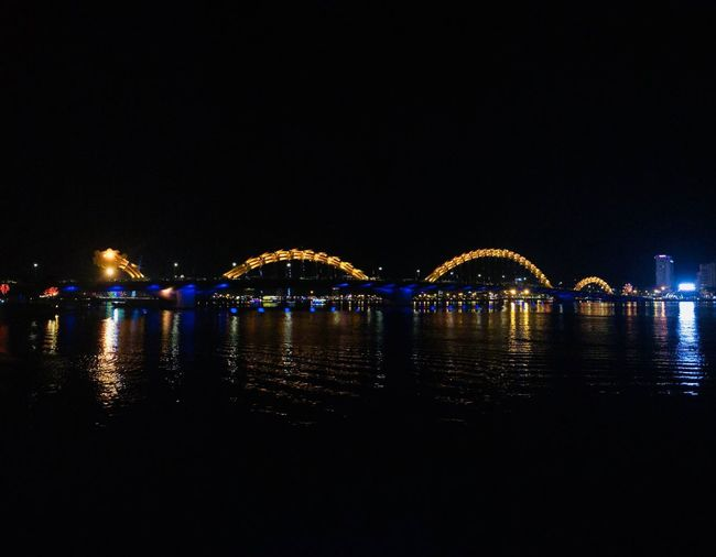 Bride Bridge - Man Made Structure Night Water Illuminated Architecture Sky Reflection Copy Space River Lighting Equipment City Light Cityscape No People Waterfront