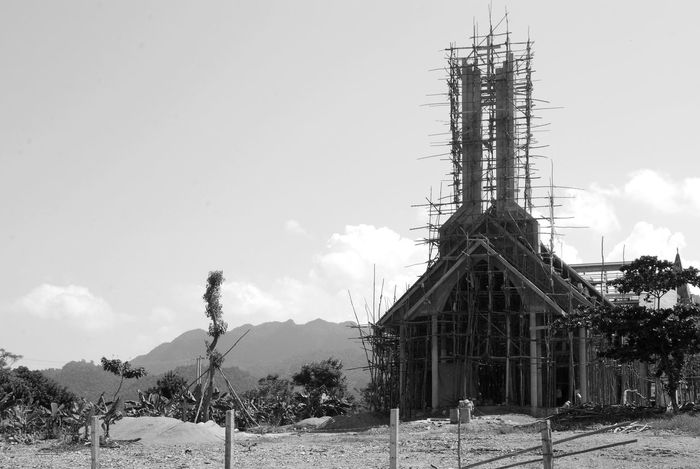 Architecture Beauty In Nature Church Construction Construction Site Countryside Day Landscape Mountain Mountain Range National Park Phong Nha Phongnha Remote Rural Scene Scenics Sky Vietnam