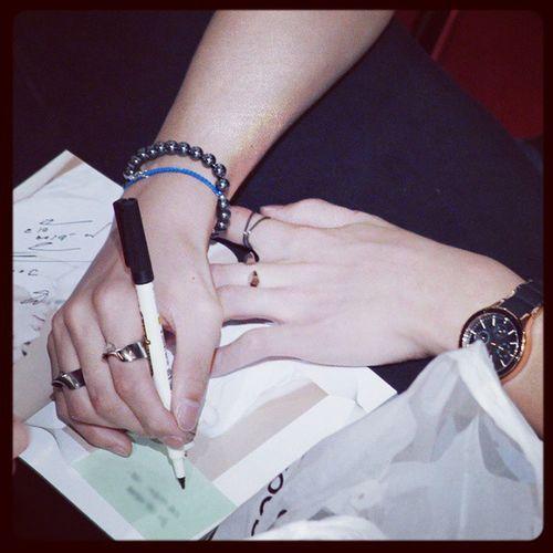 A + Leaddance 080288 Namja sign pen paper junet