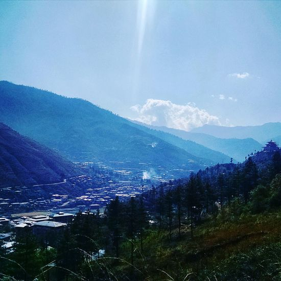 Buddha Point Bhutan Mountain Sky Background Thimphu Mountain View Thimpu The Great Outdoors - 2016 EyeEm Awards The Essence Of Summer The City Light Neighborhood Map
