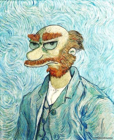 Vangogh Simpsons Parody Humor