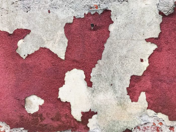 Backgrounds Red Textured  No People Pattern Paint Wall - Building Feature Full Frame Close-up White Color Art And Craft Abstract Rough Architecture Painted Multi Colored Painted Image Built Structure Dirty Textile