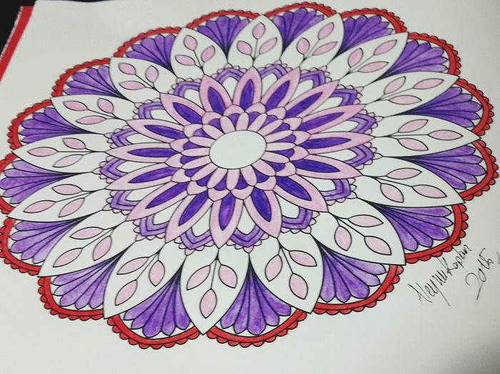 Mandala Paint Painting Draw Drawing Colours Colorful Mypainting Relaxing Taking Photos