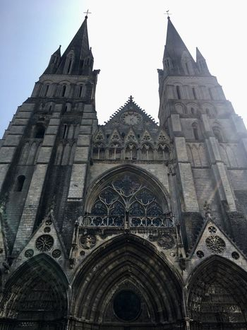Religion Architecture Place Of Worship Spirituality History Built Structure Building Exterior Day Travel Destinations Low Angle View No People Outdoors Cathedral Bayeux Nofilter Noedit Normandy Normandie
