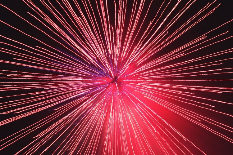 Fireworks Lights Zoom Burst Fireworks Fourth Of July Color Palette