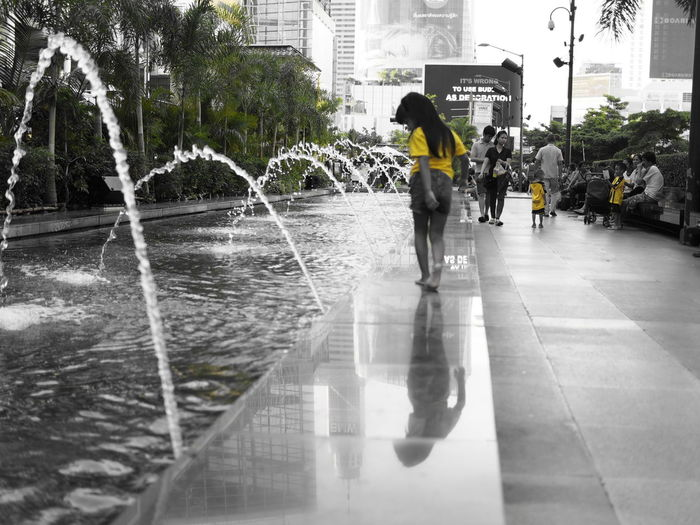 Moment. @street Streetphotography Girls Taking Photos @monocrome Shadow Bangkok Thailand. Central World BKK