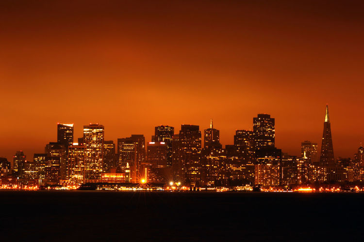 Night lights of San Francisco. Photo taken in 2010 Adulation Architecture Building Exterior Built Structure City Cityscape Downtown District Illuminated Modern Night No People Office Building Exterior Outdoors Sky Skyscraper Travel Destinations Urban Skyline