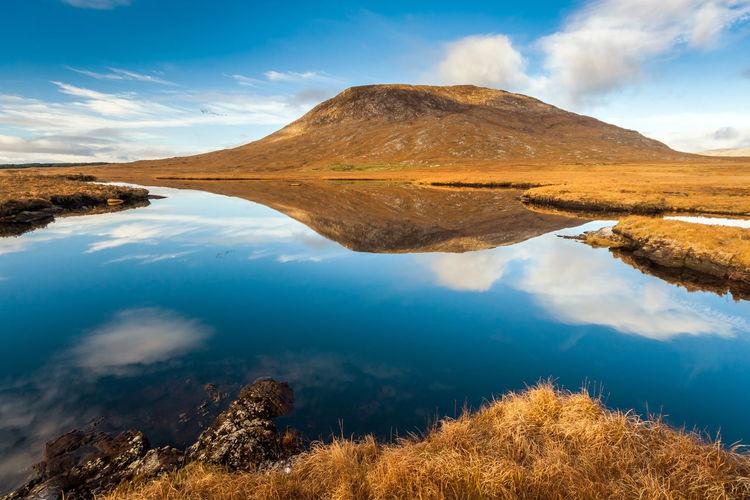 Calm reflection in connemara ireland