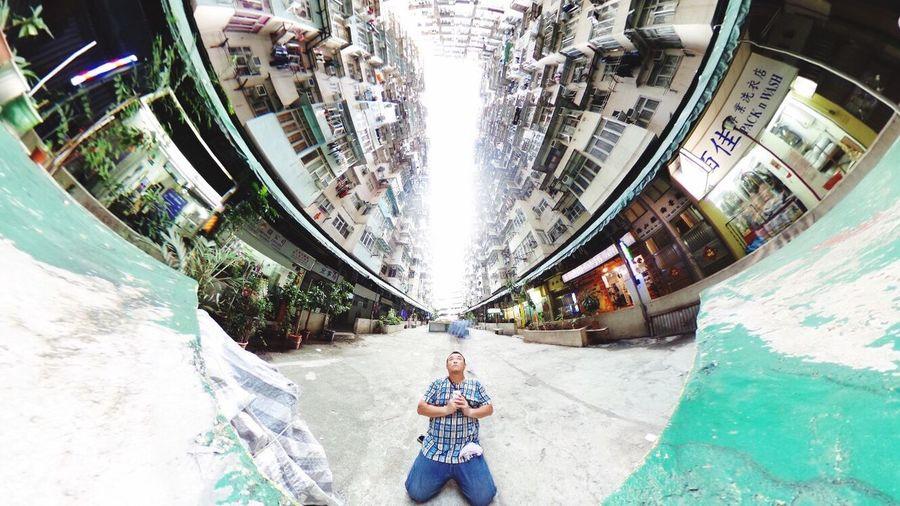 HongKong 自撮り Theta360 香港マンション