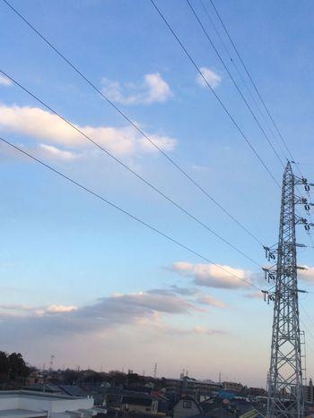 イマソラ ノンフィルター 鉄塔 雲