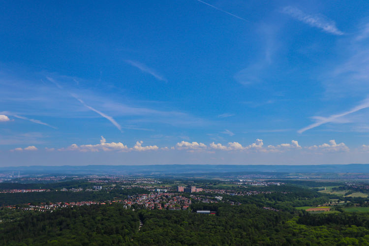 View over Stuttgart and surroundings AArchitecture bBeauty In Nature bBlue bBuilding Exterior bBuilt Structure CCity CCityscape cCloud - Sky CCommunity cCrowded dDay hHorizon hHorizon Over Water lLandscape NNature oOutdoors sSky tTown Forest Mountain Range