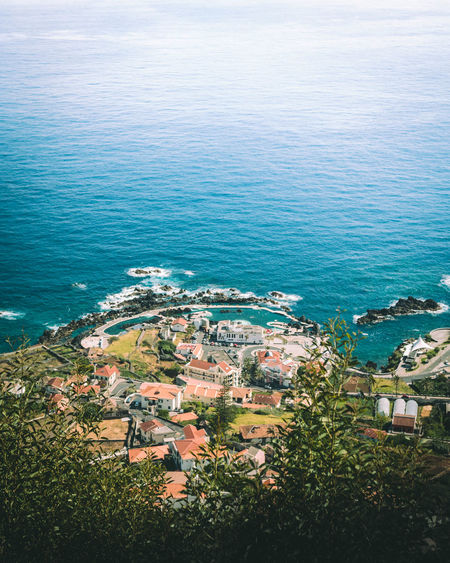 Madeira Madeira Island Porto Moniz Madeira Architecture Beauty In Nature Blue Built Structure City Cityscape Community Day High Angle View Horizon Over Water House Nature No People Outdoors Residential  Residential Building Scenics Sea Sky Town Tranquility Water