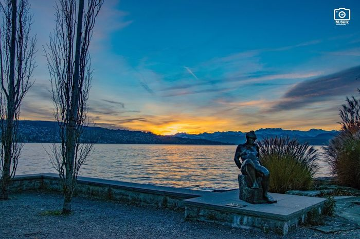Zürichsee am Montag Morgen Sky Beauty In Nature Nature Scenics Sunset Water Sea Day No People Outdoors