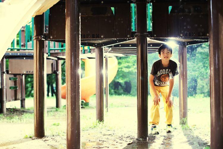 名取 ストロボ 十三塚公園 雨 Portrait Sunset