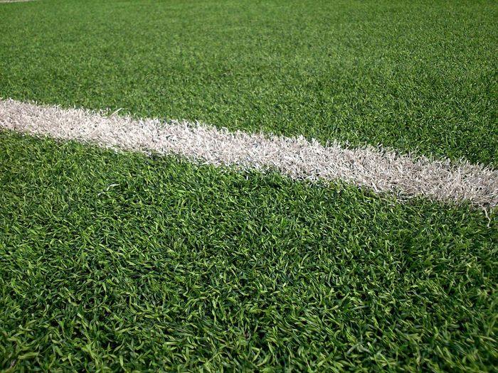 Markings on soccer field
