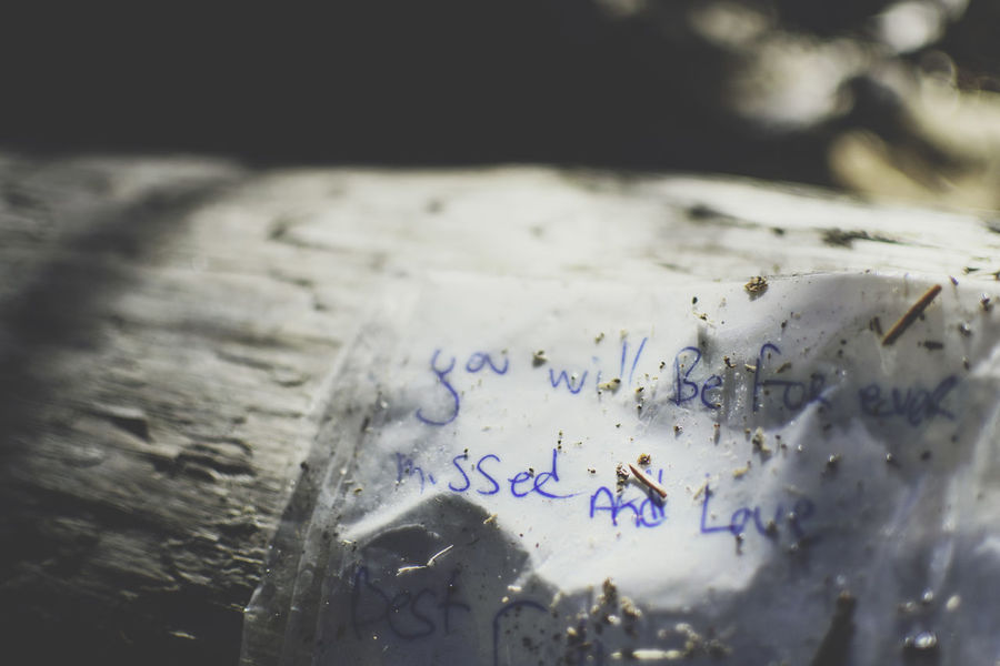 emotional letter on driftwood Bye Close-up Emotional Goodbye Hand Written Letter Love Love Note Missing Missing Someone No People Note Personal Text