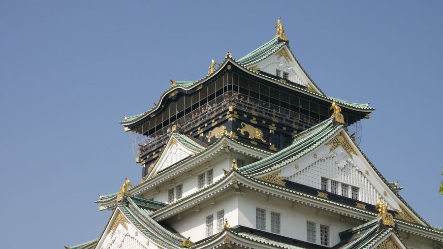Low Angle View Of Asian Building