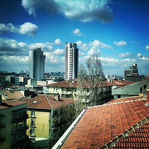 Turkey Ankara Clouds Bluesky Skyscrapers