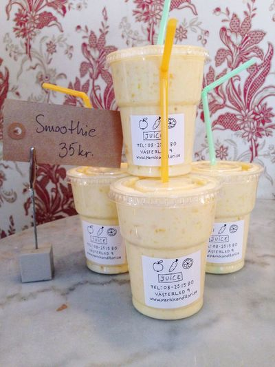 Sweden Hello World Bromma Bakery Appelviken smoothie nyttigt mellis