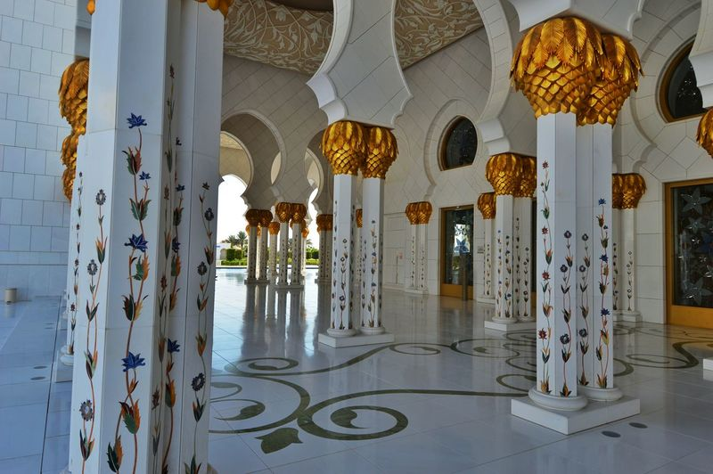 Town United Arab Emirates Grandmosque Abu Dhabi Building Exterior Travel Destinations Built Structure Architecture City Life City Outdoors Time Passes By Cityscape Islamic Architecture Islam Quran Religion Reflection Place Of Worship SubhanAllah UAE