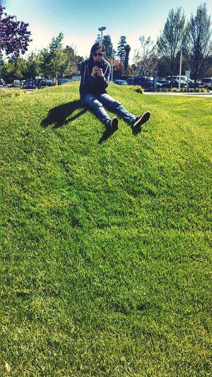 Hannah on a hill.
