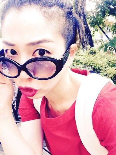 Goodmorning Redlips Reddress That's Me Sunny Day