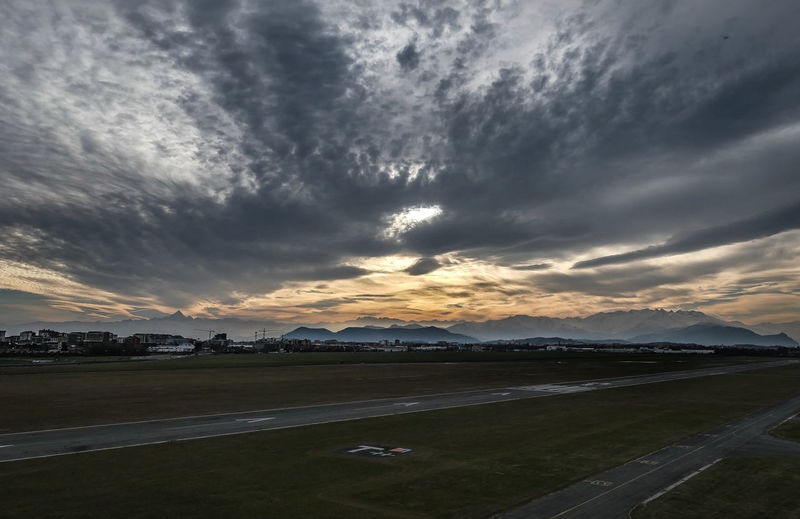 Torino Aeritalia Airport Cloud - Sky Landscape Nature No People Outdoors Plain Scenics Storm Sunset First Eyeem Photo