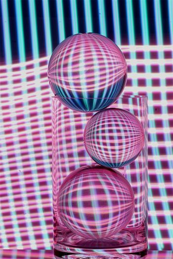 Glassballphotography Glassball Glass - Material Lightpaintingphotography Lightpainting Longexposurephotography Longexposure Pattern No People Indoors  Sphere Disco Ball Reflection Close-up Pink Color Blue Still Life Single Object Decoration Multi Colored Hanging High Angle View Arts Culture And Entertainment Illuminated Circle Geometric Shape Light - Natural Phenomenon The Creative - 2019 EyeEm Awards