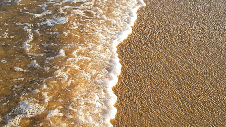 waves lapping at the shore Sand Patterns Ripples Backgrounds Water Beach Full Frame Sand Textured  Pattern Sand Dune Close-up Wave Shore Tide Wave Pattern Abstract Backgrounds Salt Flat Seascape Coast Sandy Beach Ocean
