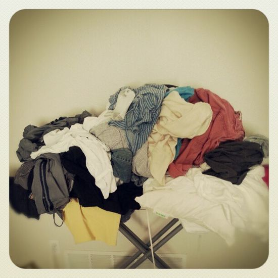 Shitload to fold.. Laundry Clothes Pile Mounteverest