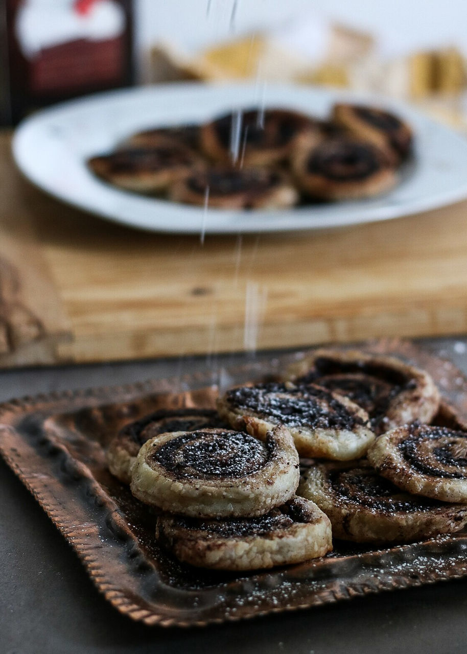 food and drink, food, sweet food, dessert, baked, freshness, sweet, ready-to-eat, indulgence, indoors, temptation, unhealthy eating, cake, no people, table, still life, plate, close-up, focus on foreground, baked pastry item, snack, tart - dessert, tray