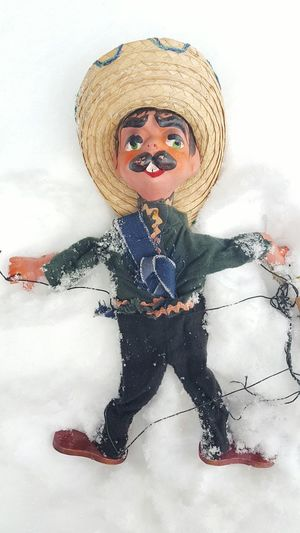 Mexican Snow Angel Surrealism Surreality Silencevsnoise Bizarre Irreverent Snow Snow Angel Puppet Sombrero