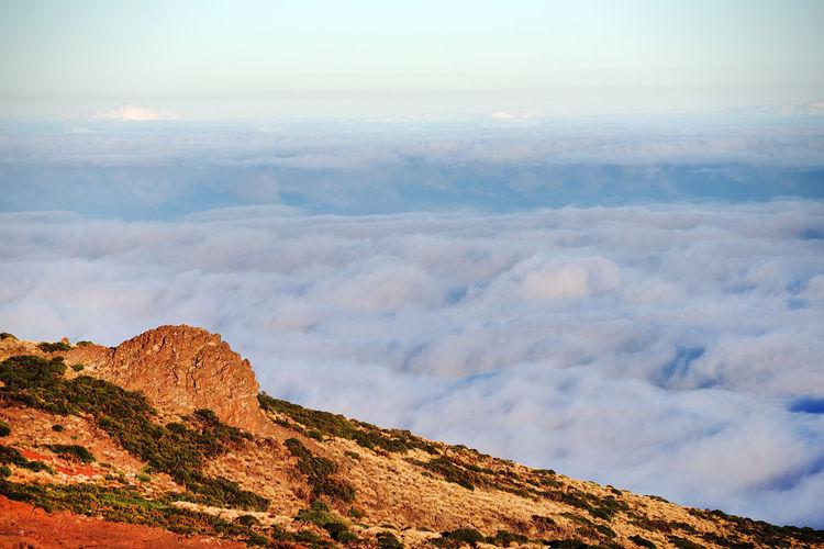 Majestic View Of Cloudscape Covering El Teide National Park