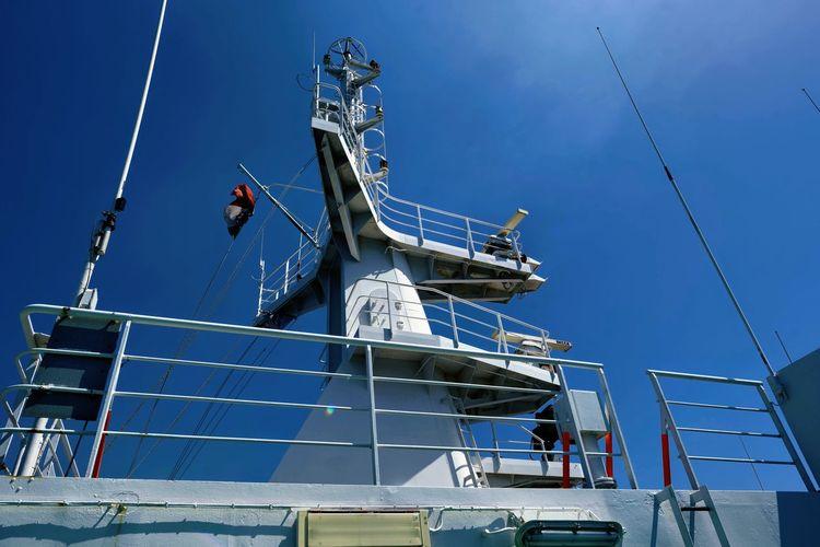 Blue Cicilia Clear Sky Ferryboat Mare No People Traghetto Station Travel Destination Venice Italy 🇮🇹 Travel