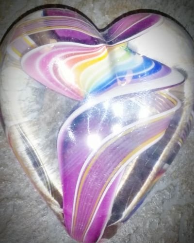Philadelphia Pennsylvania Glassheart Rainbow Color Swirl Curious Happy Manmade Beauty
