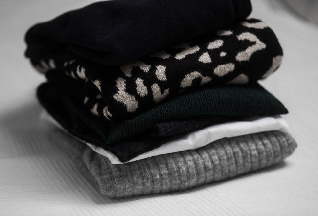 Autumn Laundry Clothes Folded Clothes Knitted  Knitted Sweater Sweaters Sweaterweather
