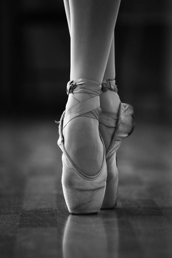 Low Section View Of Ballet Dancer