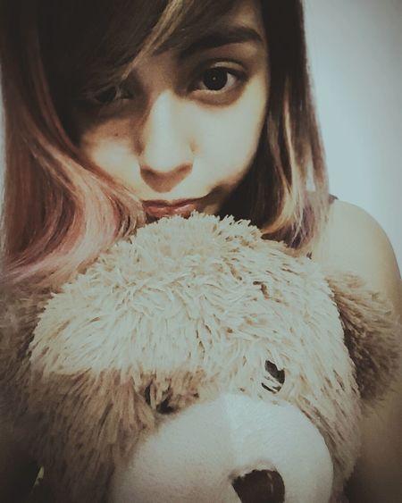 Hi! That's Me Taking Photos Selca & Selfies Cheese! Cute♡ Love ♥ I Love My Teddy<3 Teddybear <3 That's Funny Happy Selfie ✌ Selfportrait Selfie ♥ Selca~ Hair Pink Light Pink