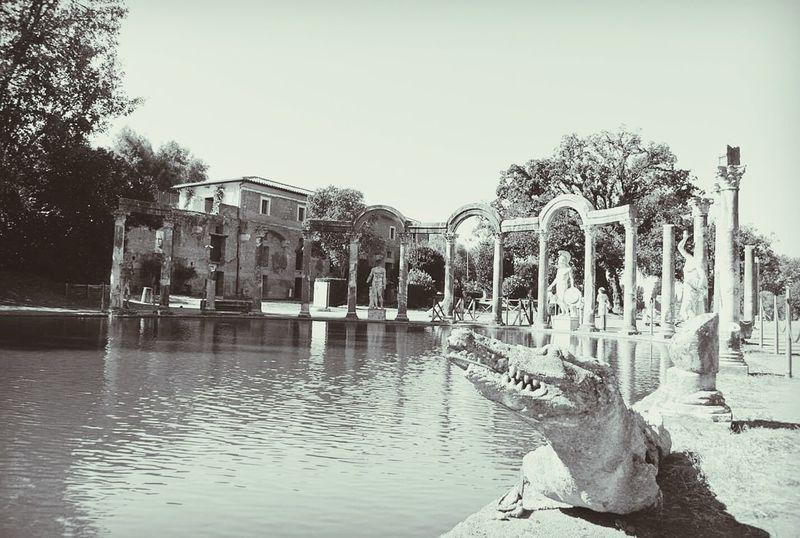 Villa Adriana Giardino Parco Tivoli Roman Italy Photography