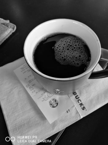 Morning reseeved coffee, especially for me. Coffee Coffeelovers Americano Coffee Blackandwhite Photography Monochrome HuaweiP9 DualCamera Leicacamera Starbucks Thailand Sippin' Chillin' Stabilizer Brainwave Early Morning