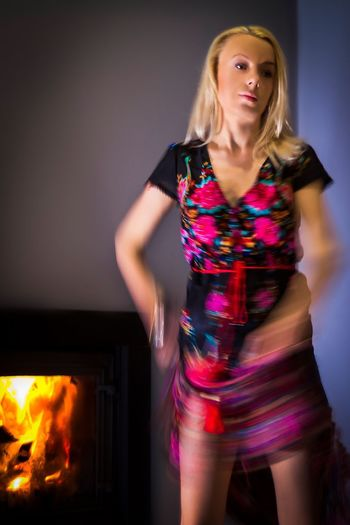 Spanish dressed Young girl dancing near fireplace Red Decor Dress Athmospheric Athmosphere Hot Fire Dancing Girl Long Blond Hair One Person Only One Person Young Adult Dress Motion Spanish Style Spanish Girl Motion Fashion One Person Indoors  Front View Young Adult Lifestyles Fashion Model Beautiful Woman Multi Colored Blond Hair Young Women People