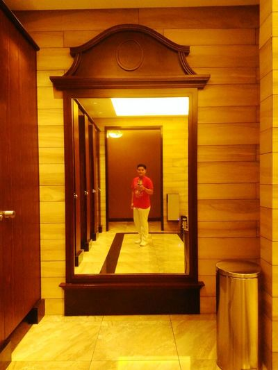 One Person Indoors  Adult People Full Length Standing Mirror Shot Breathing Space
