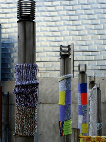 wood, metal, knitting Urban Urban Landscape Urban Geometry NYC Photography Urbanphotography Knitted  Wool Playground Play